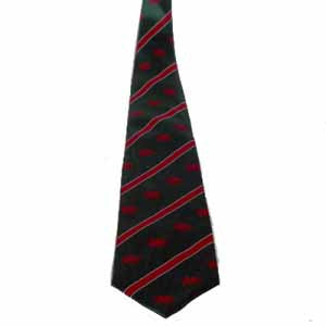 Green/ Striped Welsh Tie