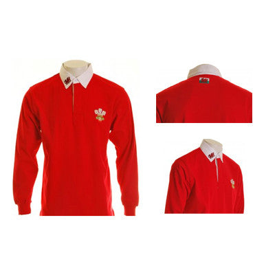 Welsh Rugby Shirt - Long Sleeve Retro Jersey reverse