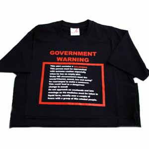 Welsh 'Government Warning' T Shirt