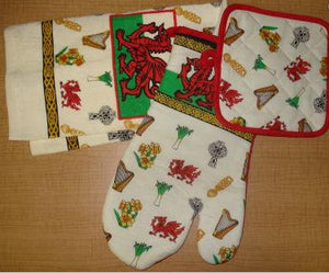 Welsh Oven Glove Set