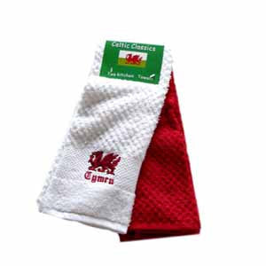Set of Two Welsh Tea Towels