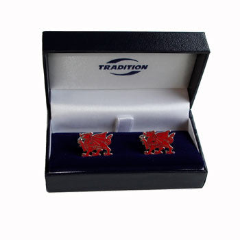 Red Dragon Pewter Cuff Links