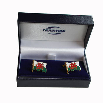 Welsh Flagpole Cuff Links