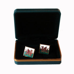 Square/ Welsh Flag Cuff Links