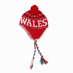 Red Welsh Knitted Pixie Hat
