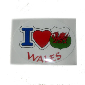 I love Wales sticker