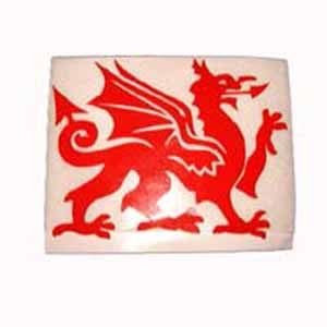 Extra Large Di Cut Welsh Dragon Sticker