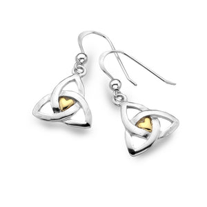Sterling Silver Celtic Heart & Knots Earrings, By Sea Gems 4222