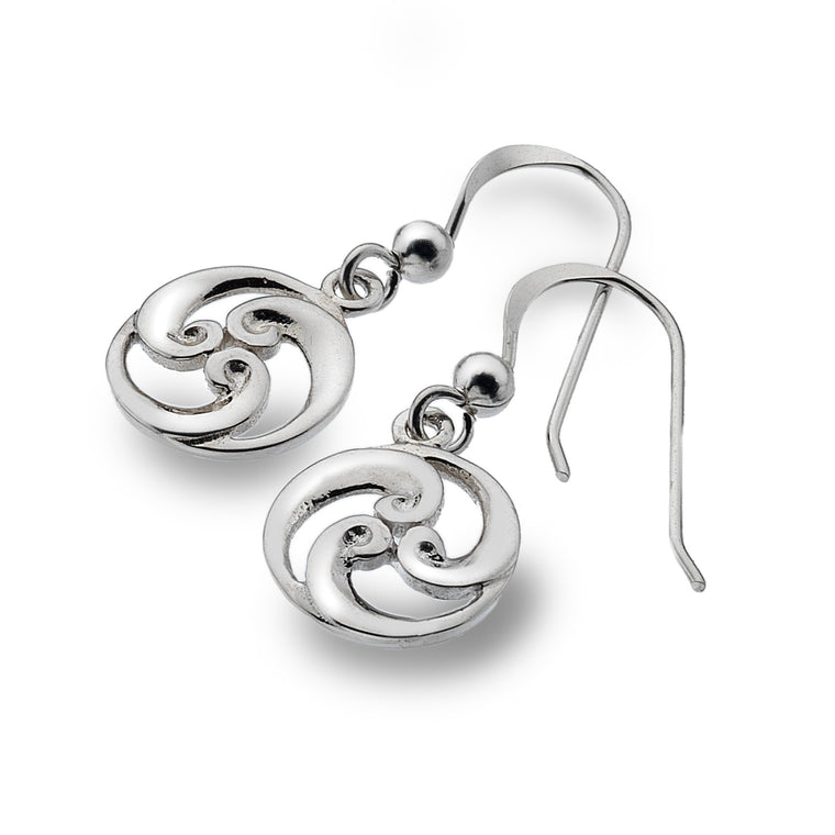 Sterling Silver Celtic Spiral Earrings, By Sea Gems 4257