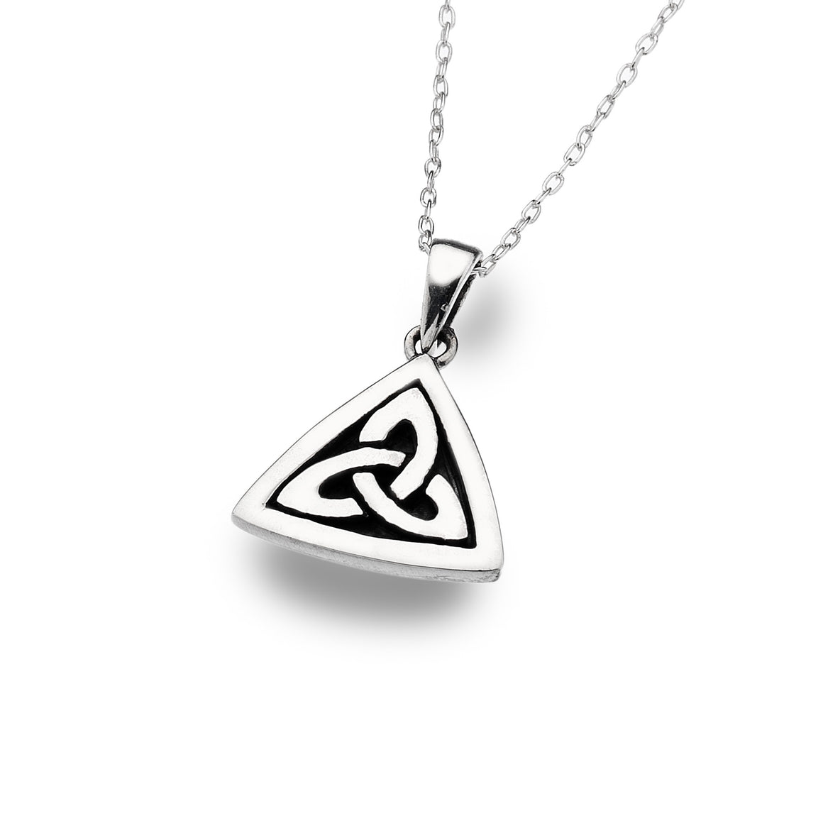 Celtic Trinity Knot Oxid - Silver Pendant By Sea Gems® (4299)