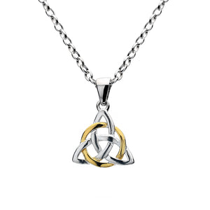 Silver Celtic Knot & Gold Plated Center - Pendant By Sea Gems® (4404)
