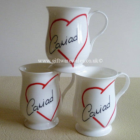 Cariad - Fine Bone China Welsh Mug