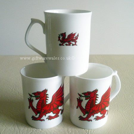 Welsh Dragon Fine Bone China Mug (RGStraight)
