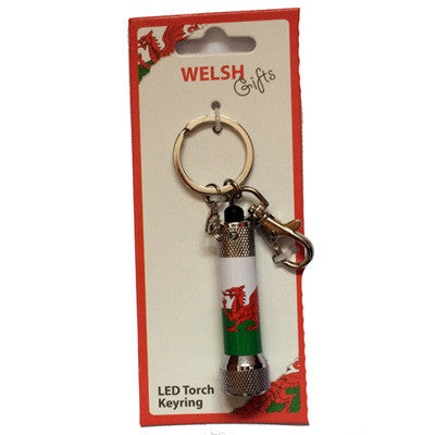 LED Torch Welsh Key Ring