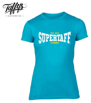 Ladies Welsh T-Shirt - College Supertaff® Blue