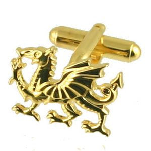 Gold Plated - Dragon Cuff Links