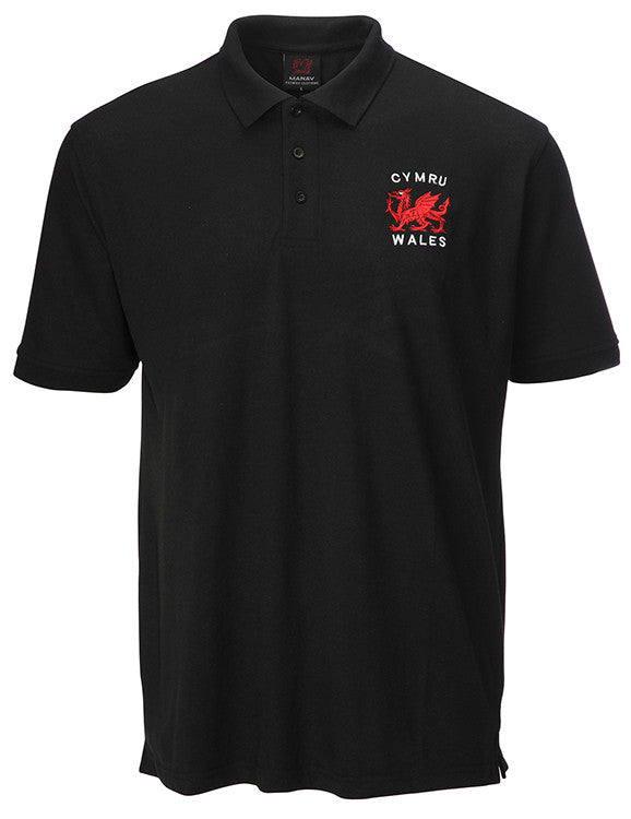 Children's Welsh Polo Shirt - Red dragon