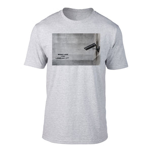 BANKSY - CCTV WHAT YOU LOOKING AT - TEE GREY