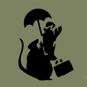 BANKSY - OFFICE RAT - TEE