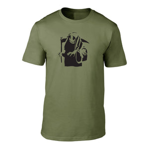 BANKSY - GRINING REAPER - TEE MILITARY GREEN