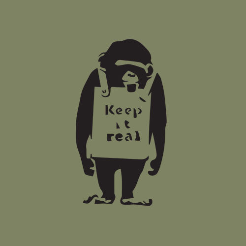 BANKSY - KEEP IT REAL - TEE