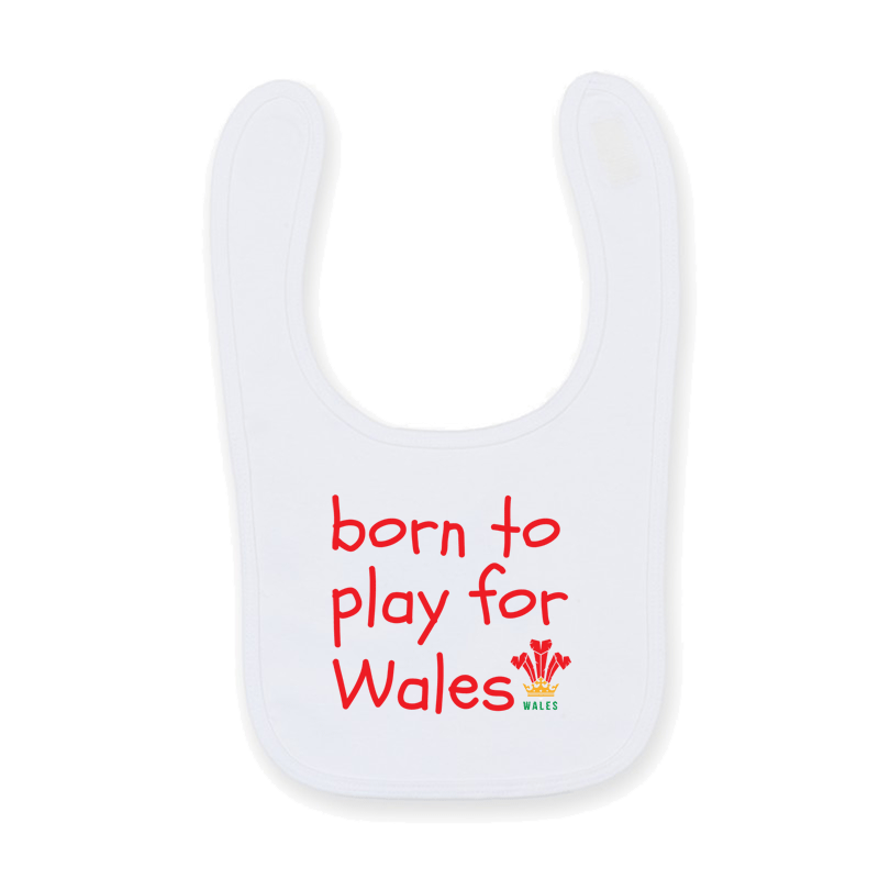 Born To Play For Wales Rugby Baby Feeding Bib Gift