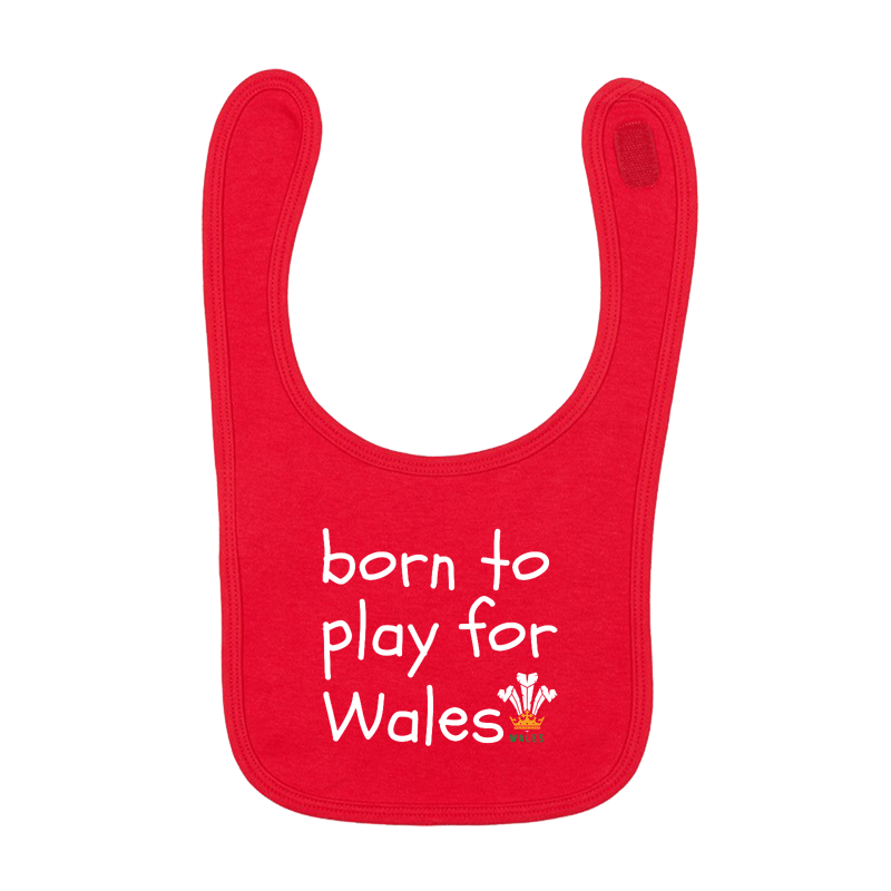 Born to Play for Wales - Baby BIB