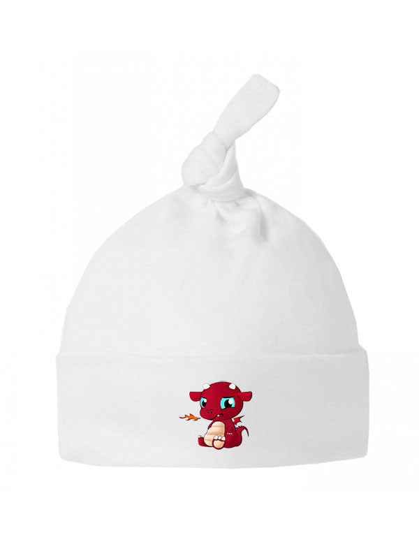 Welsh Devil - Baby Top Knot Hat