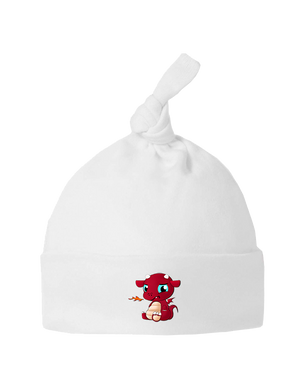 Little Welsh Devil - Baby Top Knot Hat