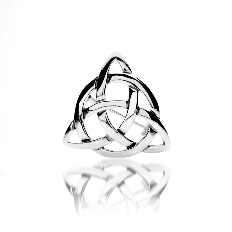 Celtic Knot Triangular - Silver Brooch By Sea Gems® (6540)