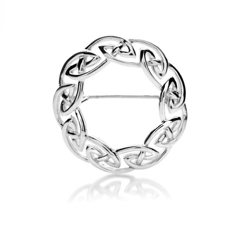 Sterling Silver Scottish Celtic Knotwork Brooch Pin By Sea Gems® (6567)
