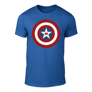 Captain Cymru Shield - Superhero Welsh T-Shirt