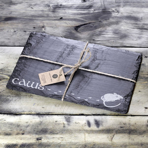 WELSH SLATE CHEESE BOARD - CAWS MOUSE