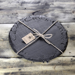 WELSH SLATE CHEESE BOARD - ROUND CAWS