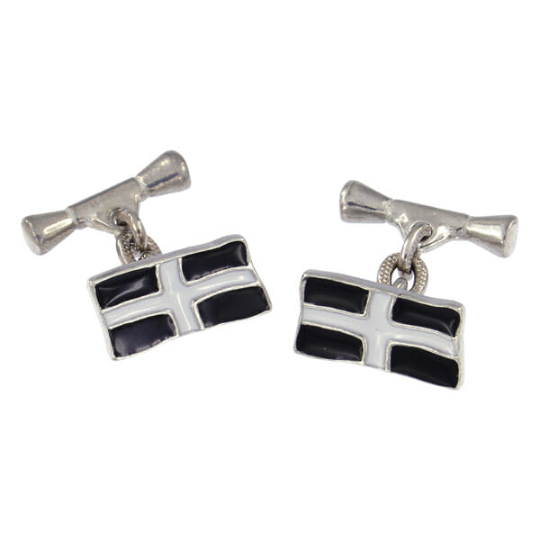 St Piran flag chain cufflinks