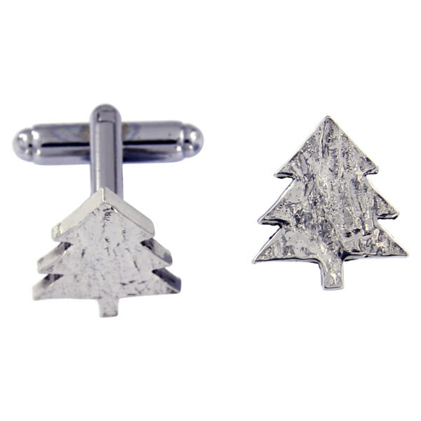 Christmas tree T-bar cufflinks