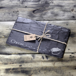 WELSH SLATE CHEESE BOARD - CHEESE MOUSE