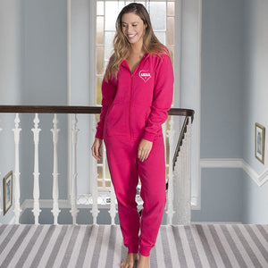 Cute CWTCH - Ladies Welsh Onesie - HOT PINK