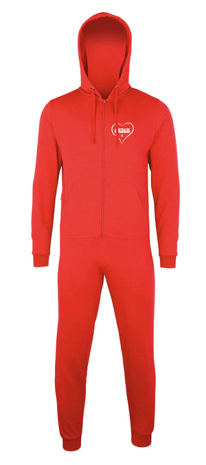 Cute CWTCH - Ladies Welsh Onesie - RED