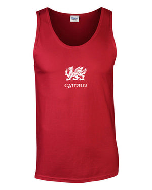 SPECIAL OFFER Men's Cymru - Wales Dragon Vest Top (Red)