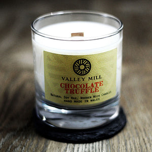 CHOCOLATE TRUFFLE SOY - WOODEN WICK CANDLE