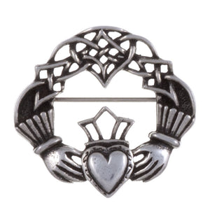 Claddagh Pewter brooch by St. Justin
