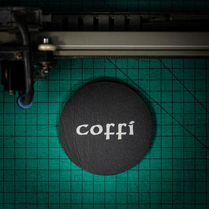 Welsh Slate Coaster - (Coffi-Coffee)