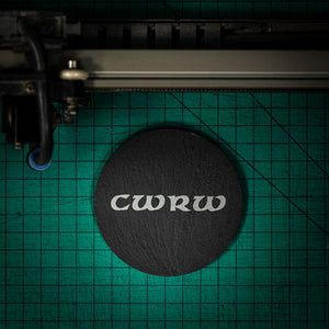 Welsh Slate Coaster - (Cwrw-Beer)
