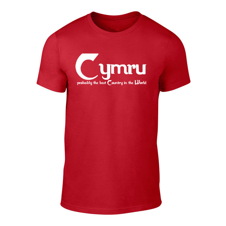 Cymru - 'Probably the Best Country in the World' T Shirt (Red)
