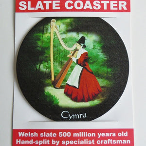 Welsh Lady Slate Coaster