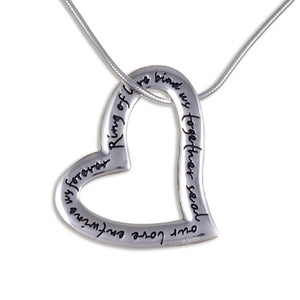 English heart love pendant Silver (SP928)