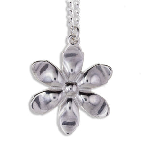 Exotic flower pendant silver by St Justin (SP962)