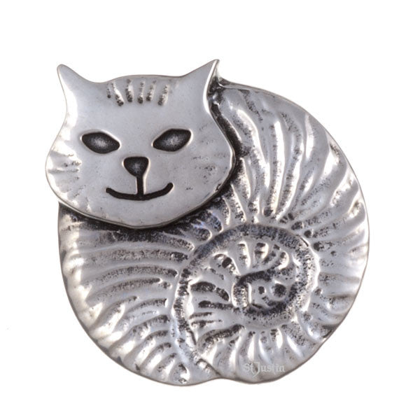 Fat cat brooch by St. Justin (PB598)