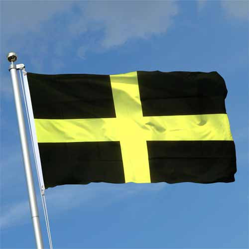 Welsh St. David's Cross - Pole Flag